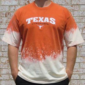 Texas Longhorns Custom Bleach Tee sz XL
